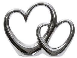 Статуэтка Два сердца серебро 14,6 см.