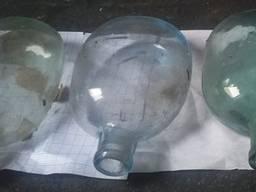 Стеклянная фляга РККА 1938 года раскопки 2014 года в трех цветах с оригинальными чехлами и