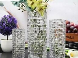 Стеклянная ваза Lead-free плетенка