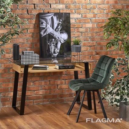 Стеклянный стол для ноутбука в стиле Лофт. Доставка на дом.