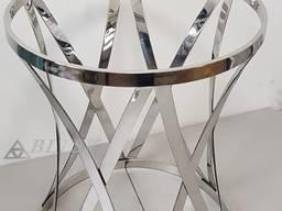 Стеклянный круглый стол кухонный Ø столешницы - 1200 мм