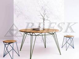 Стеклянный стол кухонный из нержавеющей стали и стекла. . .