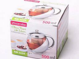 Стеклянный заварочный чайник Kamille 0, 5 л