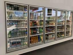 Стеклянные двери для холодильных камер