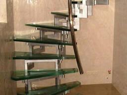 Стеклянные лестницы,перила, ступени.