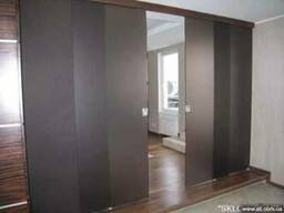 Стеклянные раздвижные двери и перегородки - фото 1