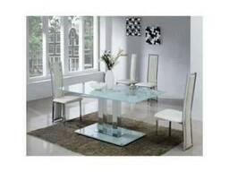 Стеклянные столы Аврора белый стеклянный стол Аврора черный
