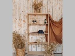 Стелаж дерев'яний Прованс-530, Етажерка, стелаж для книг, полиці для будинку