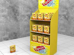 Торговый стеллаж для чая Lipton
