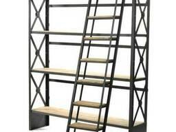 Стеллаж для хранения с лестницей в стиле LOFT (Rack - 057)