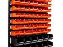 Стеллаж для СТО с пластиковыми ящиками в Виннице
