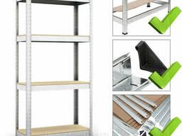 Стеллаж полочный 1600х800х300мм, 150кг, 4 полок с ДСП/МДФ оцинкованный для дома. ..