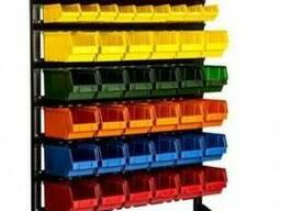 Стеллаж с пластиковыми ящиками для метизов в Ровно