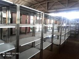 Стеллаж XXL 4 полки из нержавеющей стали (AISI 201)