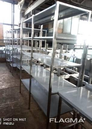 Стеллаж XXL из нержавеющей стали (AISI 201) 5 полок