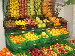 Овощные горки и стеллажи