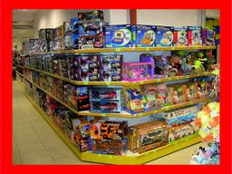 Стеллажи, оборудование для детских товаров, игрушек