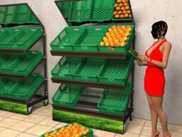 Стеллажи торговые  для магазина продуктов