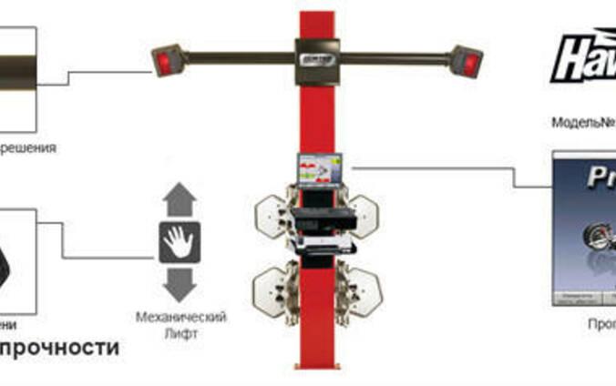 Стенд регулировки развала-схождения,3-D, 2-х камерный