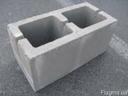 Стеновой блок вибропрессованный 390*190*190 мм.