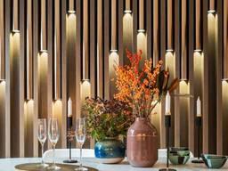 Стеновые панели дуб, декоративная рейка, декор из дерева