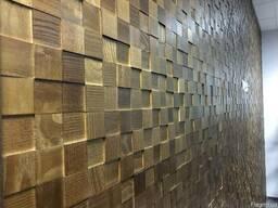Стеновые панели из дерева с 3D эффектом из дуба и ясеня.