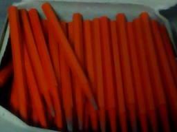 Стержни восковые оранжевые 150 штук.