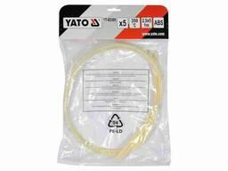 Стержні з ABS-пластику для зварювання/пайки пластику YATO 2.5 x 5 мм x 1 м 350°C 5 шт