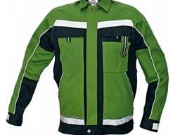 Стильна і зручна робоча куртка з бавовни зелена