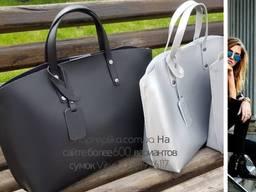 Стильная женская сумка Италия натуральная кожа Шопер