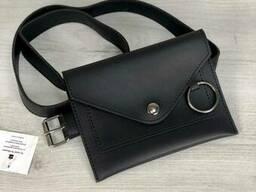 Стильная женская сумка на пояс Welassie Moris черного цвета