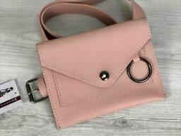 Стильная женская сумка на пояс Welassie Moris пудрового. ..