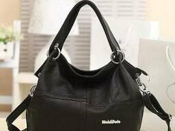 Стильная женская сумка Weidipolo Черная Черный