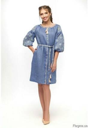 e74f1bd2b64859 Стильное модное платье вышиванка лен стиль цена, фото, где купить ...