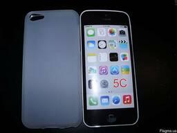 Стильный матовый белый TPU чехол iPhone 5C