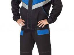Стильный рабочий костюм с контрастной отделкой