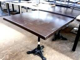 Стол б/у столешница верзалит, нога чугунная коричневого цвет