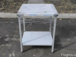 Стол для кухни кафе и ресторана разделочный (нержавейка)