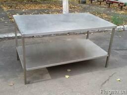 Стол для разделки мяса б/у из нержавеющей стали