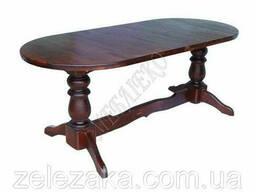 """Стол из дерева цельній """"Аварора"""" 2 ножки (БУК), 120х80. .."""