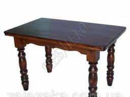 "Стол из дерева ""Квадрат"" 4 ножки (БУК), 120х80, доставка. .."