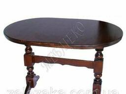 """Стол из дерева """"Овал"""" 2 ножки (БУК), 120х80, доставка по. .."""