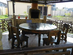 Стол круглый деревянный 1700*750 для кафе, дачи