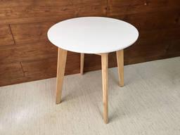 Стол круглый обеденный белый, стол кухонный, стол на кухню,