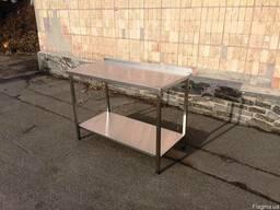 Стол металлический для кухонь общественного питания 1, 4м