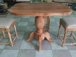 Стол обеденный дуб натуральный табурет
