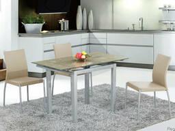 Cтеклянные столы на кухню TB017-5, стол обеденный TB017-5