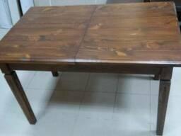 Стол обеденный раздвижной из натурального дерева