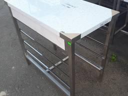 Стол подставка с направляющими под противни и гастроемкости
