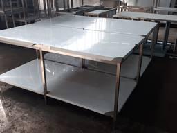 Стол производственный 2400х1200х850 с полкой из нержавеющей стали